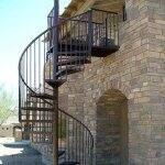 spiral staircase wrought iron