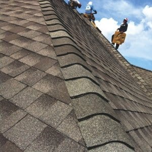 Baker Roofing crews focus on roof function and asthetics. (Photo courtesy of Richard Baker)