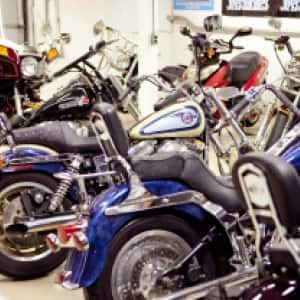 Motorcycles on display. (Photo by Photo by Brandon Smith )
