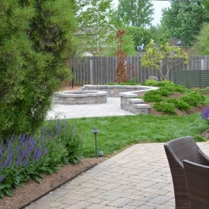 paver patio with fire pit (Photo by Photo by Roger Tunis )