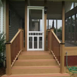 Taking proper care of your screened-in porch will make it a focal point of your home in spring and summer. (Photo courtesy of Tim Shaver, owner of Home Improvements in Kalamazoo, Mich.)