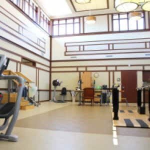 Rehabilitation gym at senior living facility. (Photo by Photo courtesy of Three Pillars Senior Living Communities)