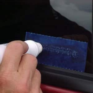 VIN etching can prevent thieves from targeting your vehicle. (Photo courtesy of the Victoria (Texas) Police Department.)