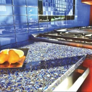 Charmant Recycled Glass Countertops Are Made From Post Commercial And Industrial  Recycled Glass. Manufacturers Like