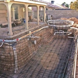 Las Vegas homeowner Ryan Law says Blue Lagoon Pools left him with an incomplete pool. (Photo courtesy of Ryan Law)