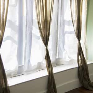 curtains on window