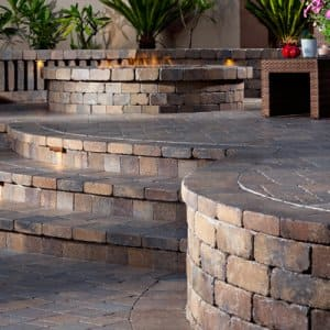 patio made with pavers
