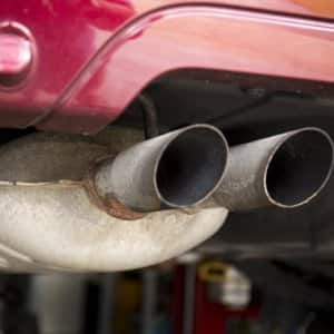 Picture of a car's muffler