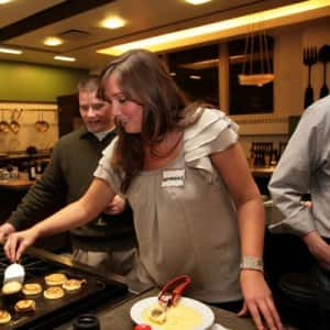Cooking classes are great for couple's night out, with a group of friends, or even to attend solo. (Photo courtesy of The Chopping Block)