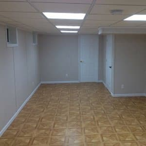 finished basement with no furnishings
