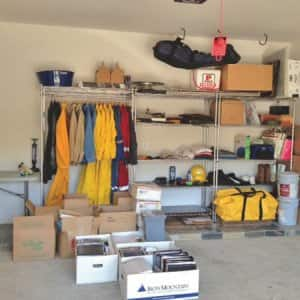 Hiring a professional organizer put member William Burch on task to organize his garage. (Photo courtesy of Ruth Ellen Huebner)
