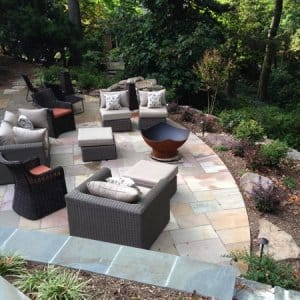 Choose patio furniture that fits your lifestyle and helps fill the space you want to use. (Photo courtesy of member Rosa C. )