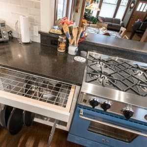 Interior design and decorating trends blue oven