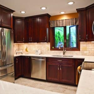 kitchen remodel with countertops, cabinets, appliances and tile backsplash (Photo by Angie's List)