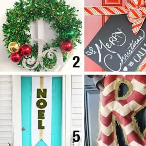 door holiday decorations