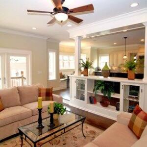 open floor plan remodel