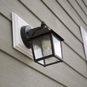 outdoor light with LED bulb