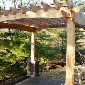 A well-designed pergola can accent its natural surroundings. (Photo courtesy of Angie's List member Susanne T. of Sunbury, Ohio)
