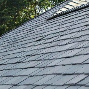 slate shingled roof