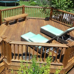 There Are A Variety Of Finishes, Colors And Coats Required When It Comes To  Picking. How To Stain Your Deck ...