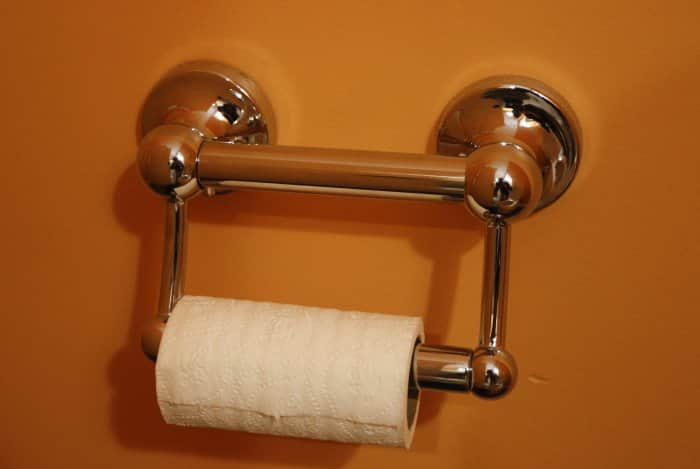 grab bar toilet paper roll