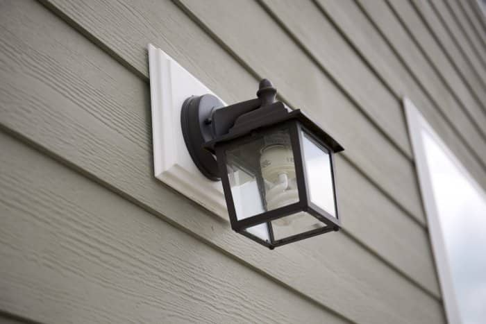 exterior sconce lighting CFL with bronze square fixture