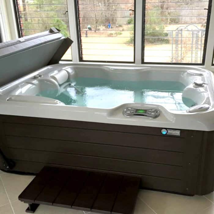 Hot Spring Spa Portable Hot Tub Installed Inside