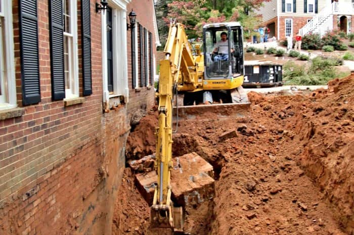 excavation projects near your home like this basement improvement