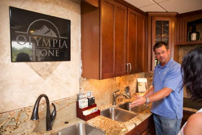 Matt Schuckman Of Highly Rated Olympia Stone In Indianapolis Walks A Customer Around The