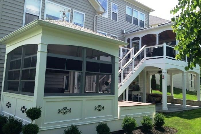 Some gazebos sit atop an existing deck rather than out in the middle of the yard. (Photo courtesy of Angie's List member Gary S. of Lorton, Va.)