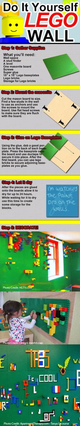 DIY Lego wall for kids
