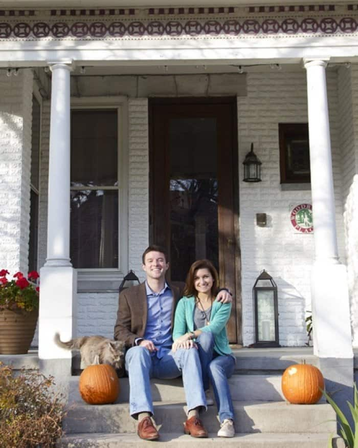 Will and Lindsay Arvin on front porch