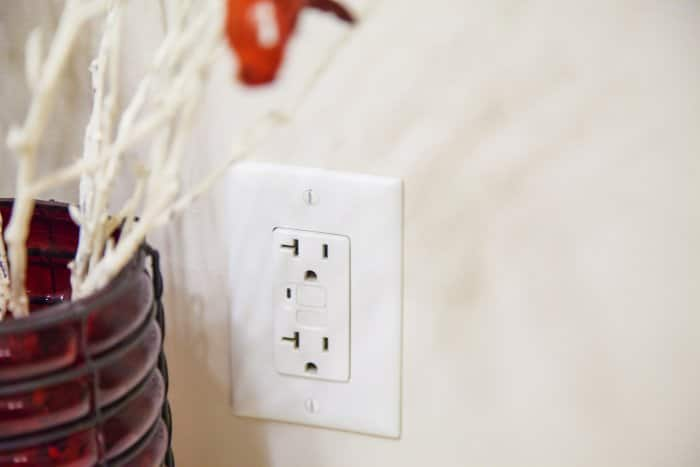outlets installed on kitchen counter
