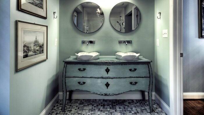 dresser repurposed into vanity