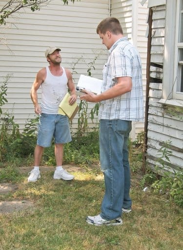unlicensed contractor receives citation from building inspector