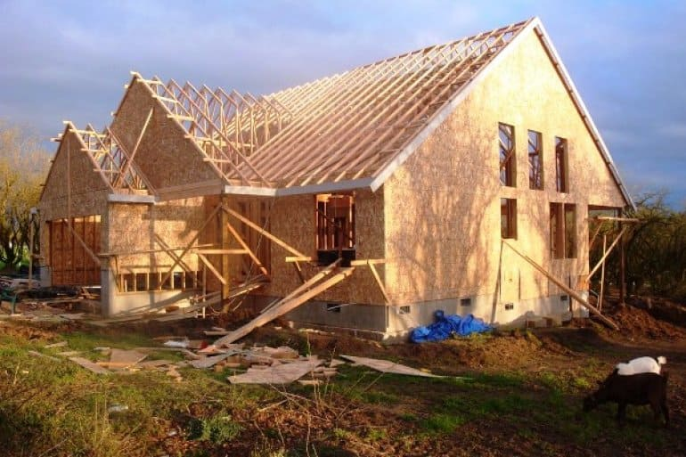 new home construction in progress