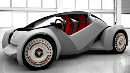 Local Motors uses a 3-D printer to build its new car, the Strati. (Photo courtesy of Local Motors)