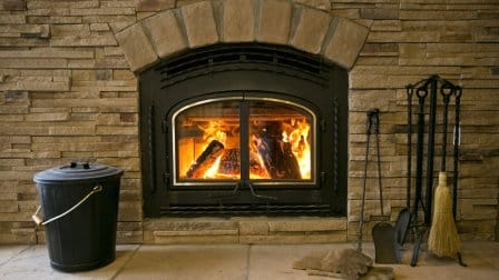 woodburning fireplace stone surround metal insert fireplace accessories