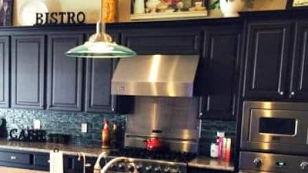 Basic black is making its way into Washington-area kitchens as a popular cabinet color. (Photo courtesy of Angie's List member Jeffrey Q.)