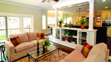 sitting area with room divider