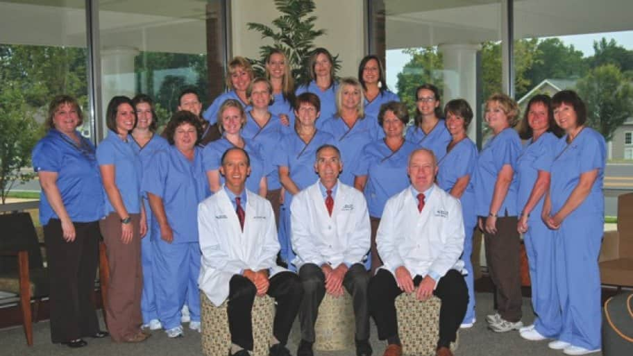 a group photo of the dentists and staff at Mint Hill Dentistry