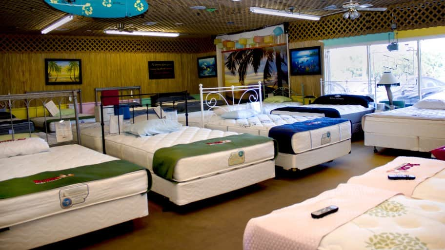Fox Mattress bed showroom in Daytona Beach, Florida