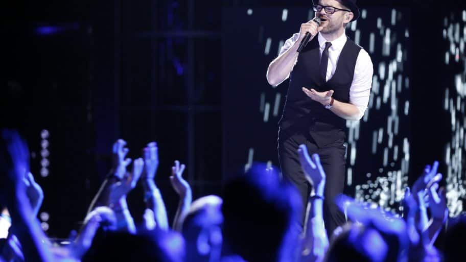 "Indy's own Josh Kaufman performs on ""The Voice."" (Photo by Trae Patton/NBC)"