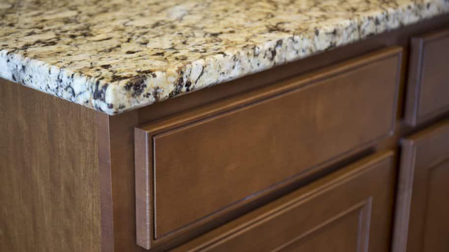 cabinet and granite countertop