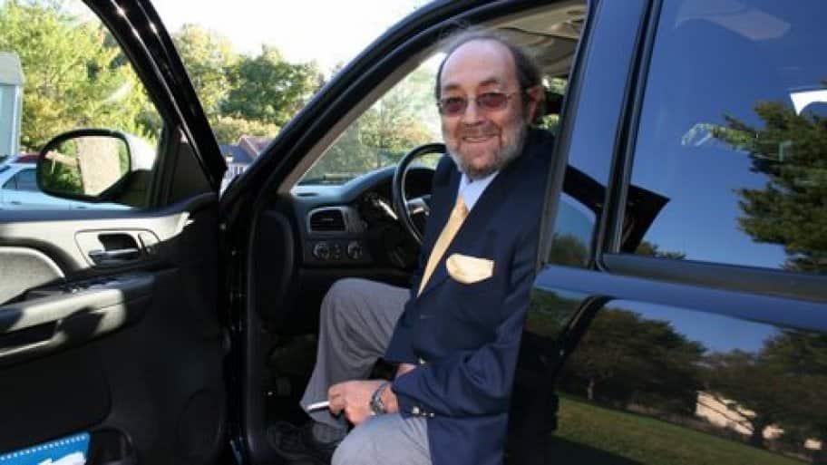 Boris Mlodik sitting in his vehicle