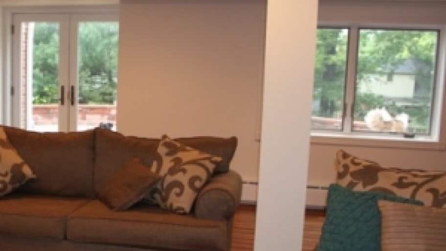 basement living room remodel