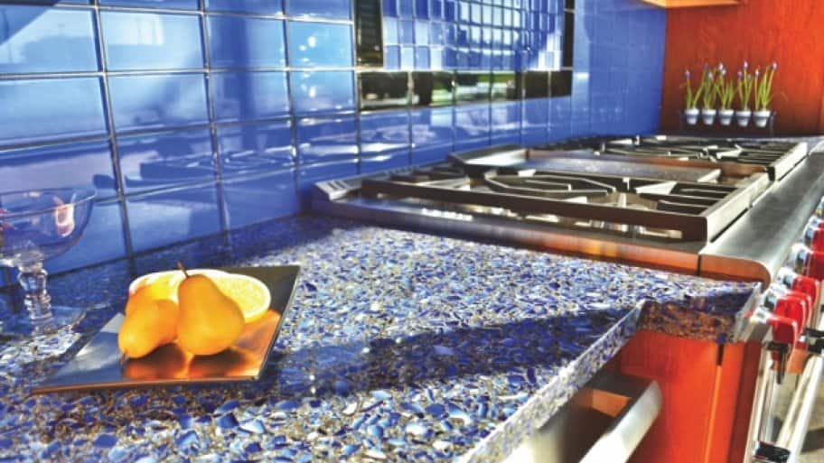 what to consider when buying recycled glass countertops | angie's list