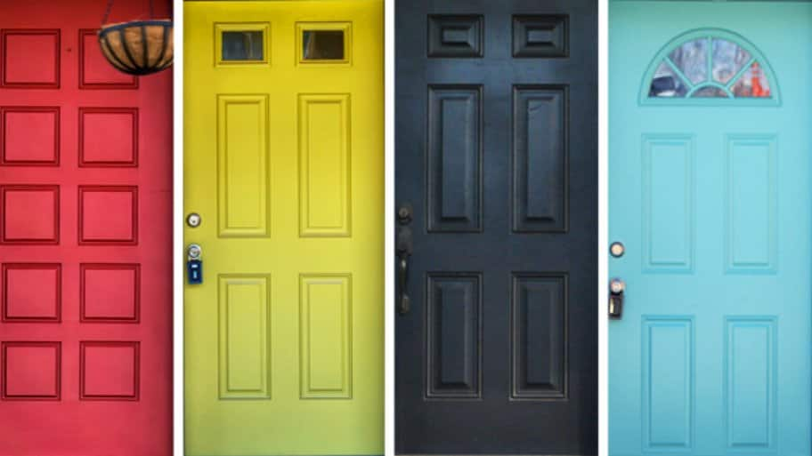 Best Paint For Front Door color doors & aqua front door red brick house