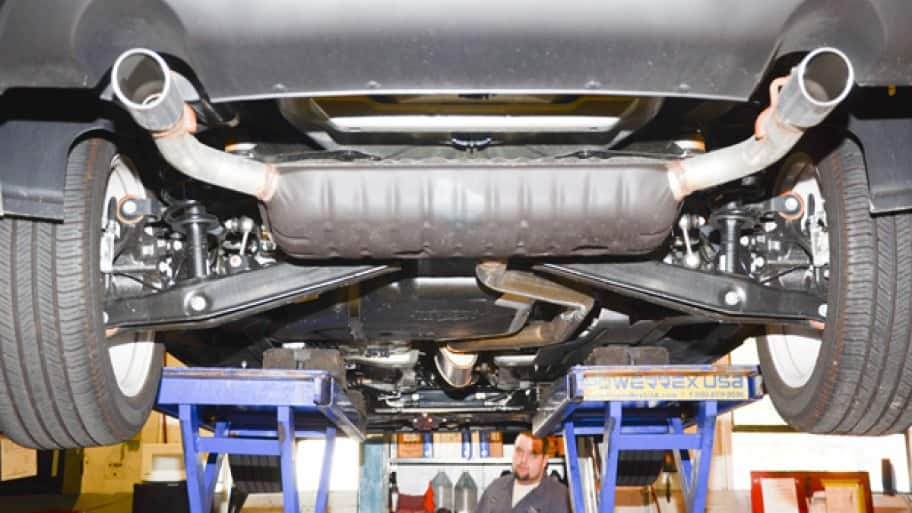 Although a car's muffler is easily visible, it's only one portion of a vehicle's exhaust system. (Photo by Fred Patton)