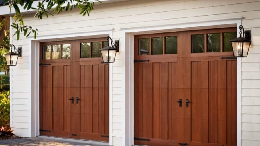 4 tips for buying a new garage door angie 39 s list for Faux wood garage door
